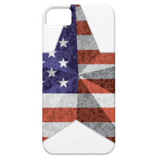 4th of July Star Outline with USA Flag Texture iPhone 5 Cover