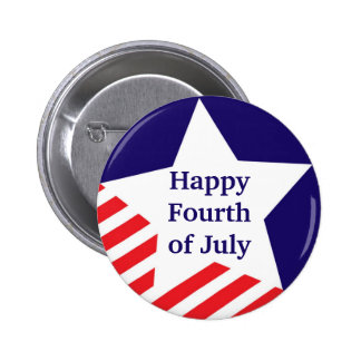 4th of July star stripe red white blue custom Buttons