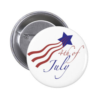 4th of july stars and stripes button