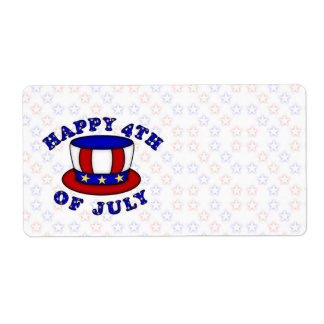 4th of July USA Independence Day Label
