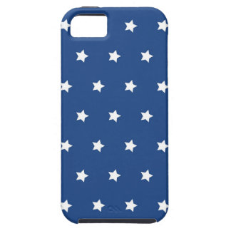 4th Of July White Stars on Navy Background Pattern iPhone 5 Cases
