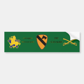 4TH SQDN 9TH CAVALRY 1ST CAVALRY BUMPER STICKER