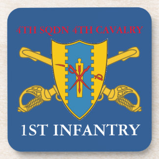 4TH SQUADRON 4TH CAVALRY 1ST INFANTRY COASTERS