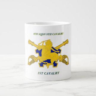 4TH SQUADRON 9TH CAVALRY 1ST CAVALRY MUG JUMBO MUG