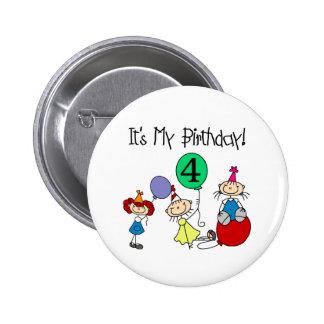 4th Stick Kids Party 6 Cm Round Badge