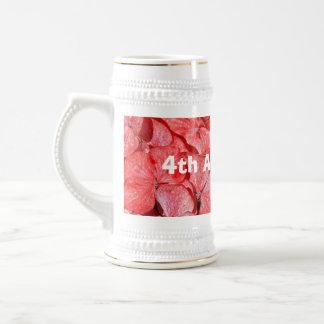 4th wedding anniversary - Hydranga Beer Stein