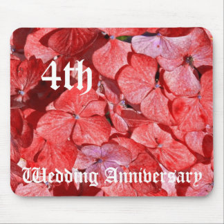 4th wedding anniversary - Hydranga Mouse Pad