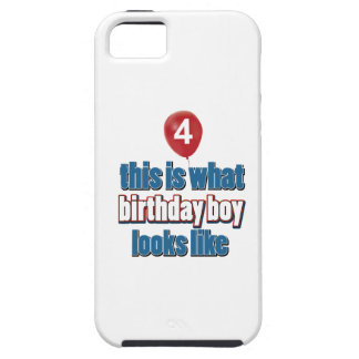 4th year old birthday designs iPhone 5 covers