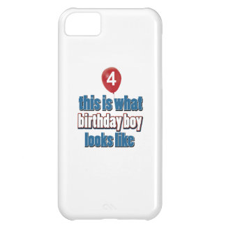 4th year old birthday designs case for iPhone 5C