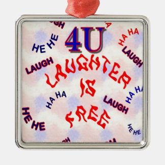 4U LAUGHTER Silver-Colored SQUARE DECORATION