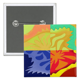4way - a beautiful 4 squares abstract 15 cm square badge