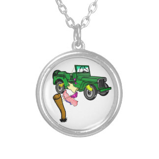 4WD adventure Silver Plated Necklace