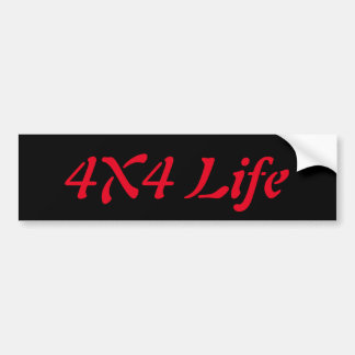 4x4 life bumper sticker