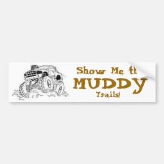 4X4 Mud Truck Bumper Sticker