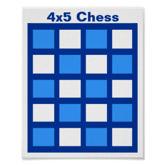"""4x5 - Chess TAG Grid (1-1/4"""" fridge magnets) Poster"""
