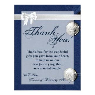 4x5 FLAT Thank You Card Air Force Class A Uniform 11 Cm X 14 Cm Invitation Card