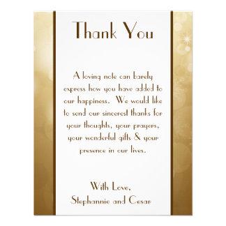 4x5 FLAT Thank You Card Christmas Copper Blur Custom Invites