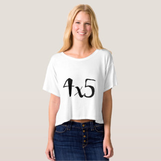 4x5 Large Format Photography Crop Top