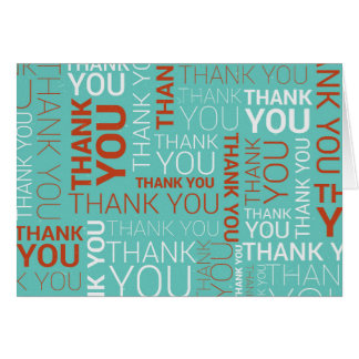 """4x6"""" Thank You Note Card"""