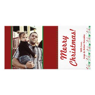 4x8 Christmas Holly PHOTO Card
