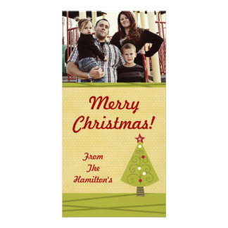 4x8 Decorated Christmas Tree PHOTO Card