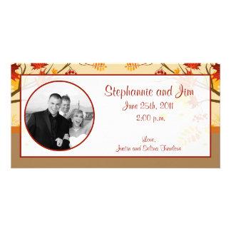4x8 Engagement Photo Announcement Autumn Branch Photo Cards