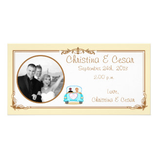 4x8 Engagement Photo Announcement Just got Married Customised Photo Card