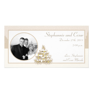 4x8 Engagement Photo Announcement Old Town Christm Picture Card