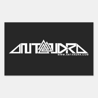 4x Rectangular Antandra Stickers b/w