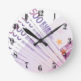 500 euros round clock
