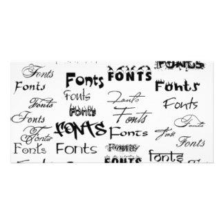 500-Fonts Photo Card