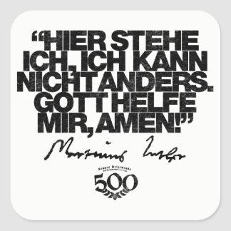 500th Anniversary Reformation Luther Quote Sticker