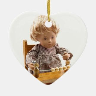 501 Sasha baby honey blond Sandy ornamentation Ceramic Heart Decoration