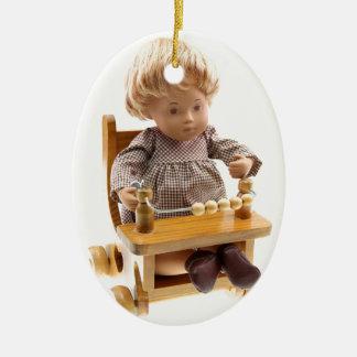 501 Sasha baby honey blond Sandy ornamentation Ceramic Oval Decoration