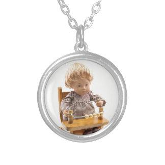 501 Sasha baby honey blond Sandy ornamentation Silver Plated Necklace