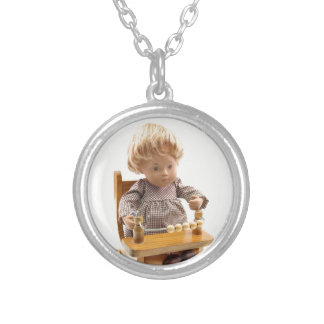 501 Sasha baby honey blond Sandy supporter Silver Plated Necklace