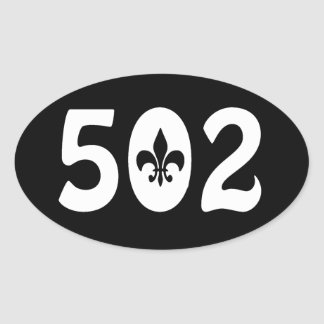 502 OVAL STICKER