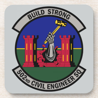 502nd Civil Engineer Squadron - Build Strong Beverage Coaster