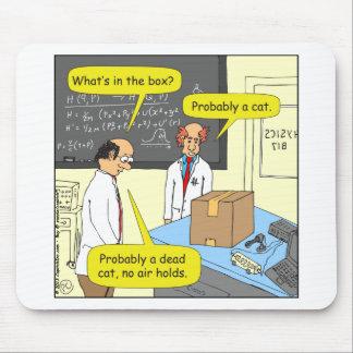 505 cat in box physics cartoon mouse pad