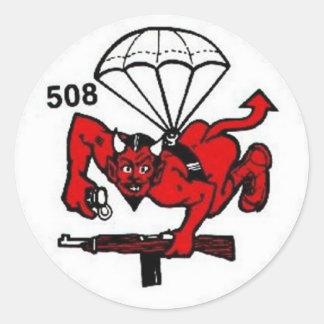 508th PIR Classic Round Sticker
