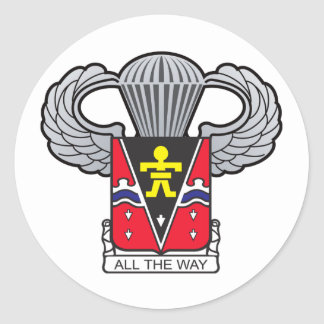 509th Airborne Crest with Airborne Wings Classic Round Sticker