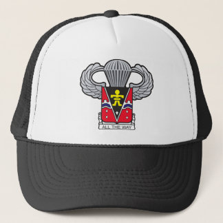 509th Airborne Crest with Airborne Wings Trucker Hat