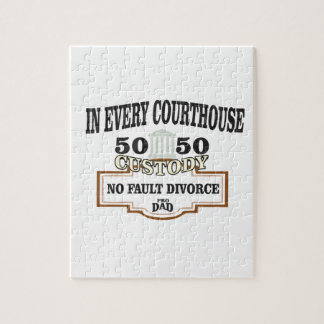 50 50 custody in every courthouse jigsaw puzzle