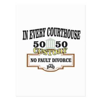 50 50 custody in every courthouse postcard
