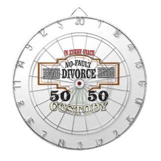 50 50 custody in marriage dartboard