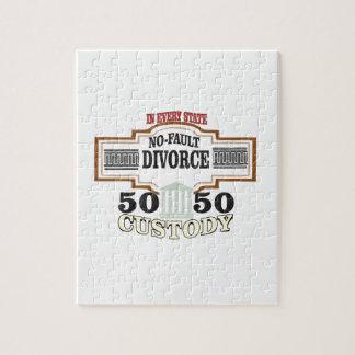 50 50 custody in marriage jigsaw puzzle