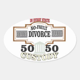 50 50 custody in marriage oval sticker