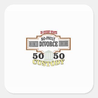 50 50 custody in marriage square sticker