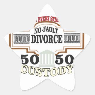 50 50 custody in marriage star sticker