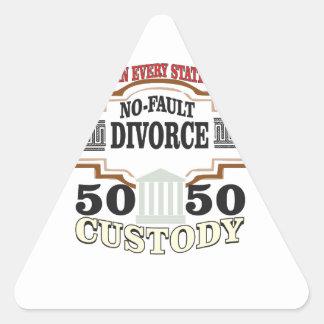 50 50 custody in marriage triangle sticker